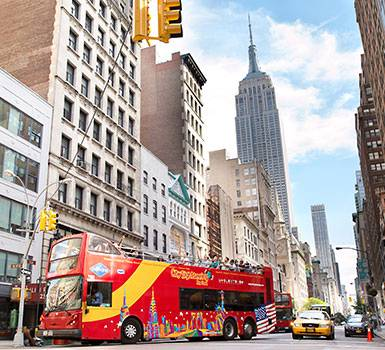 Hop-on Hop-off Sightseeingbus in New York